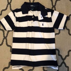 Blue and white polo t shit Size S 8/10